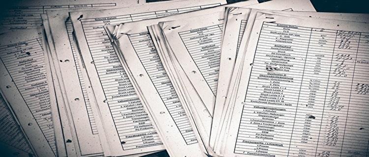 法人の電気料金を比較する書類